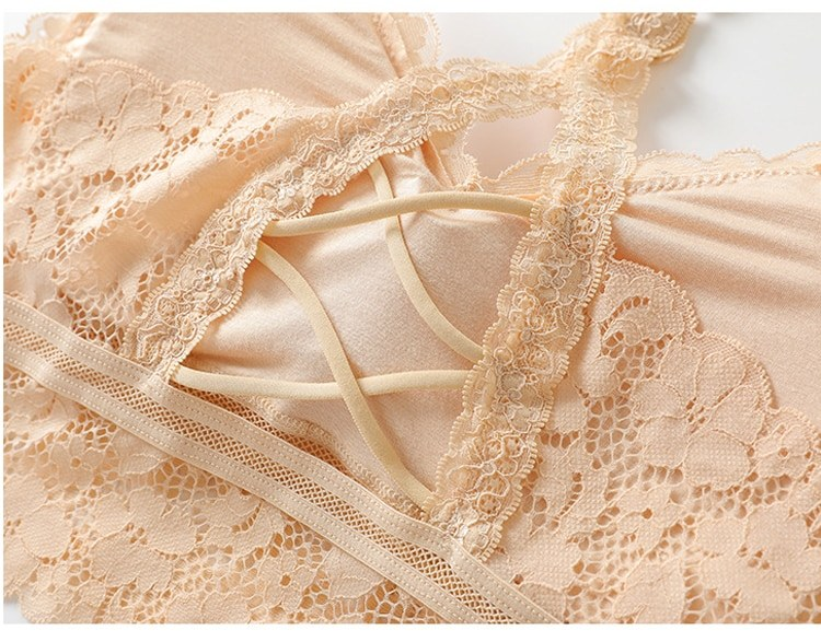 Women Hollow Out Bralette, Beauty Back Lace Underwear Sexy Vest - Seamless Lingerie