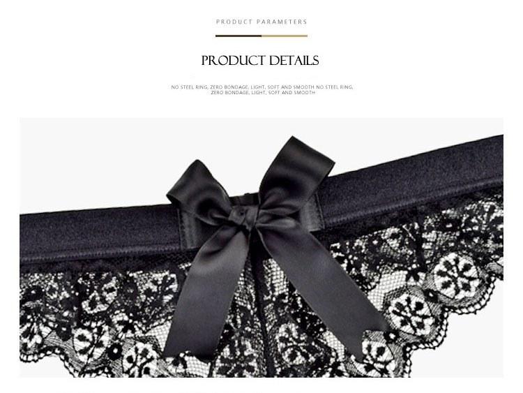 Women Lingerie G String Lace Underwear - Femal Sexy T-back Thong Sheer Panties