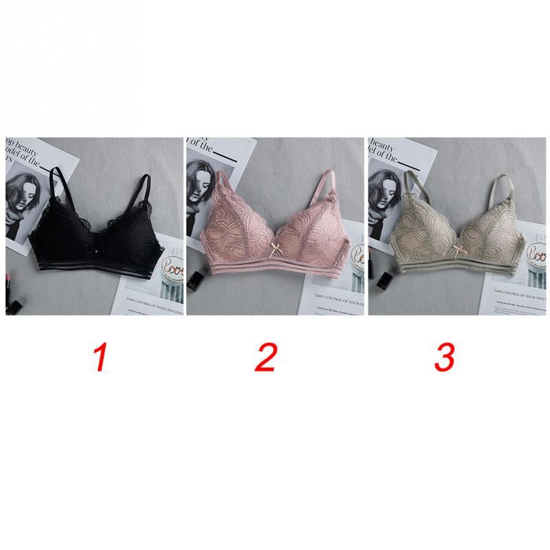 Women Sexy Bra - Lace Floral Briefs Underwear Triangle Cup Bra Set