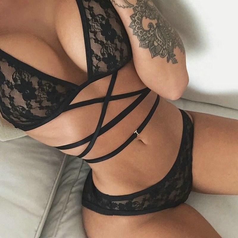 Erotic Lingerie Women's Sexy Underwear Temptation Three Point Suits