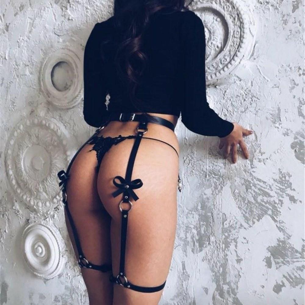 Leather Leg Garter Body Strap - Harness Belt - Sex Costumes
