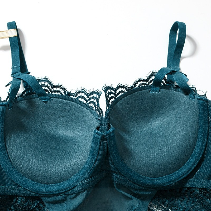 Sexy Lingerie Lace Push Up Balconette Bra Underwire