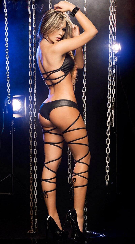 Hot Two-piece Set Nightclub Bandage Pole Dance Clothing Costume