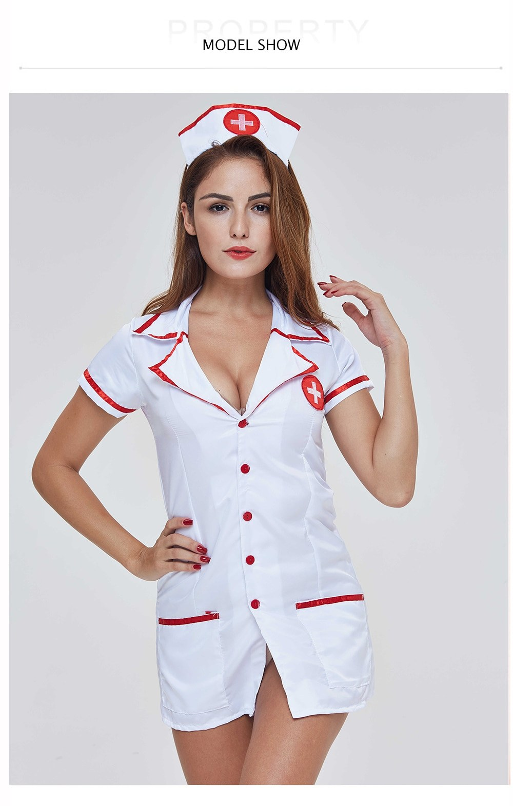 Sexy Nurse Costume - Erotic Lingerie Women Underwear