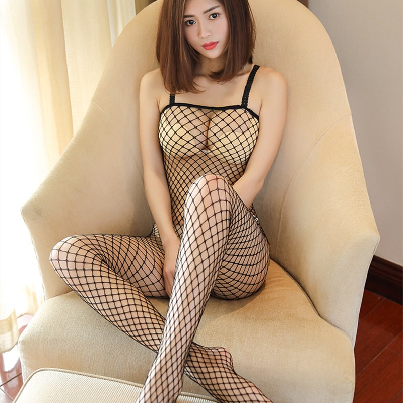 Erotic Lingerie For Women Hollow Mesh Fishnet Baby Doll