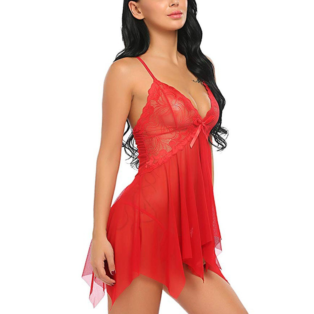 Women sexy nightgown nightdress - Erotic Backless babydoll