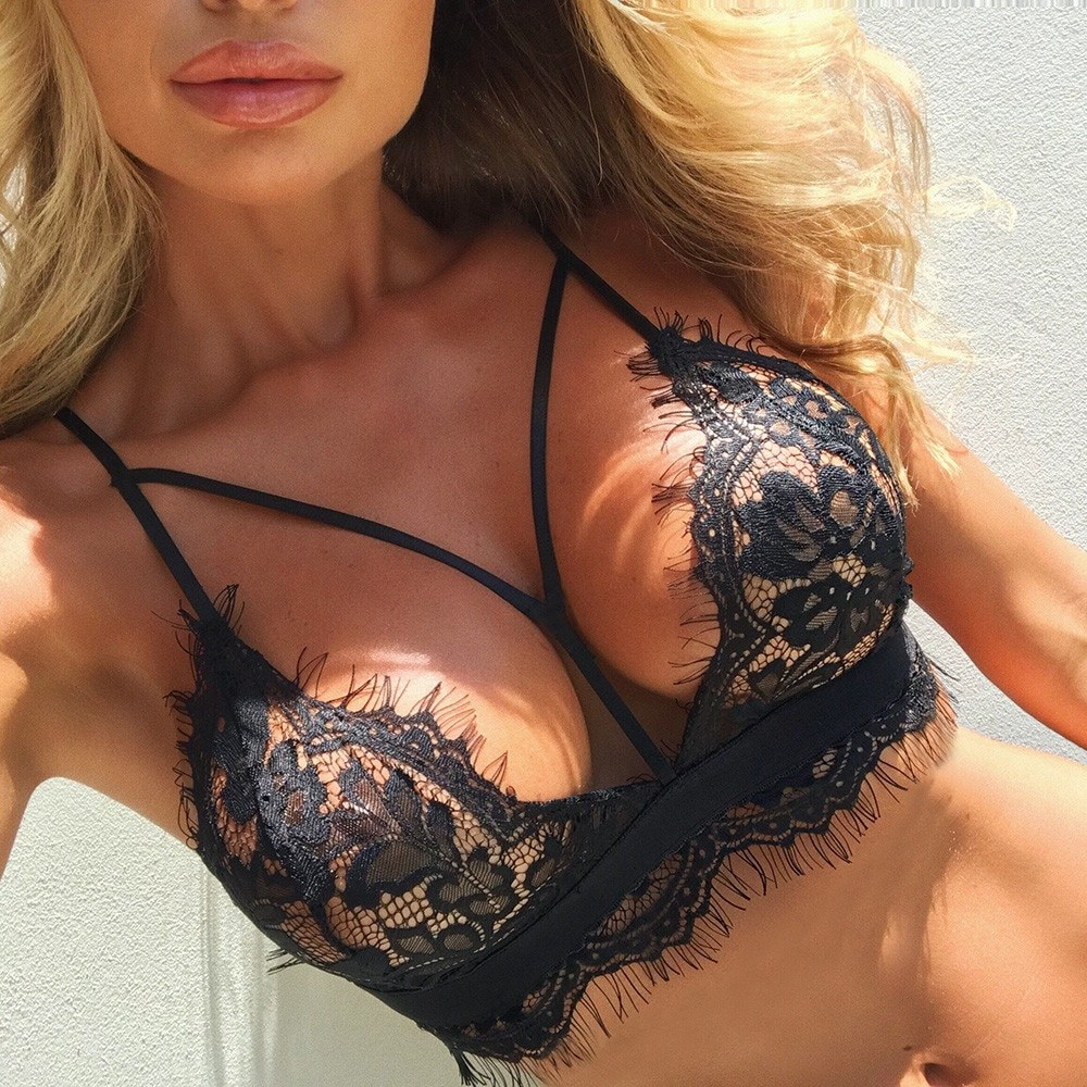 Women Bralette Sexy Lingerie Hot Erotic Hollow-out Underwear
