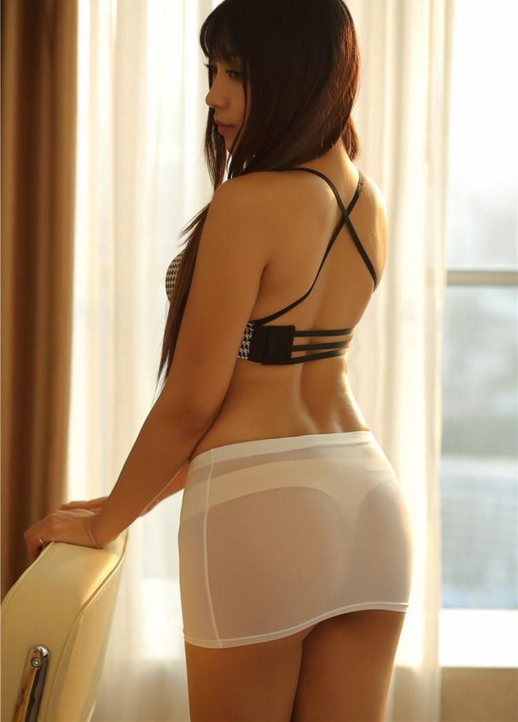 See through Sexy Micro Mini Skirt Open Crotch Shorts