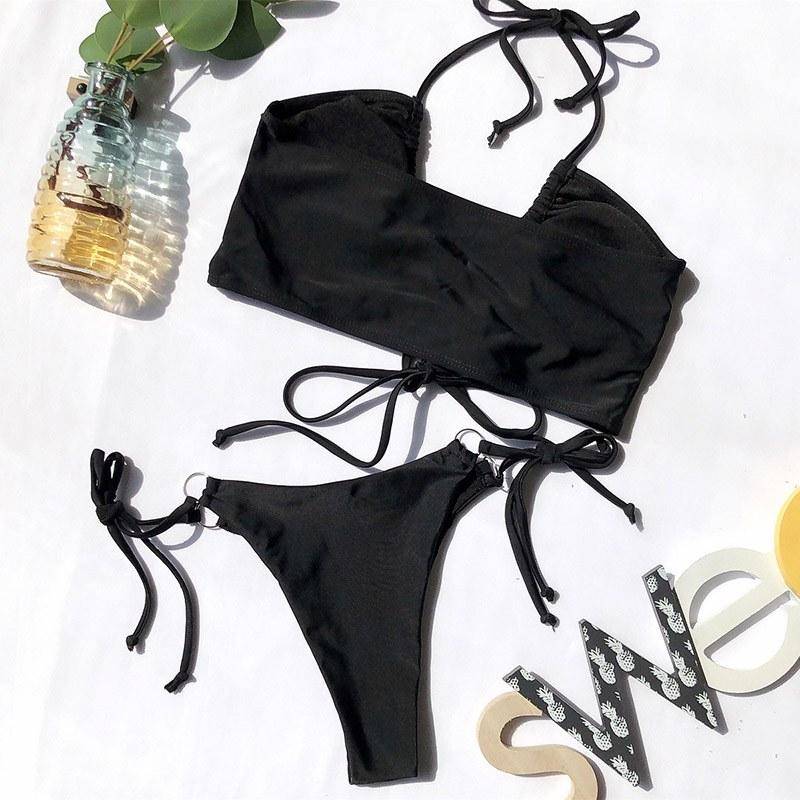 High Waist Bikini 2020 Push Up Swimsuit Leopard