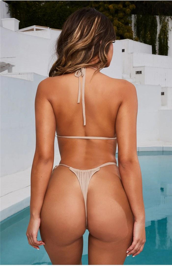 2020 Sexy Bikini Swimwear - Summer Halter Lace Up Bikini
