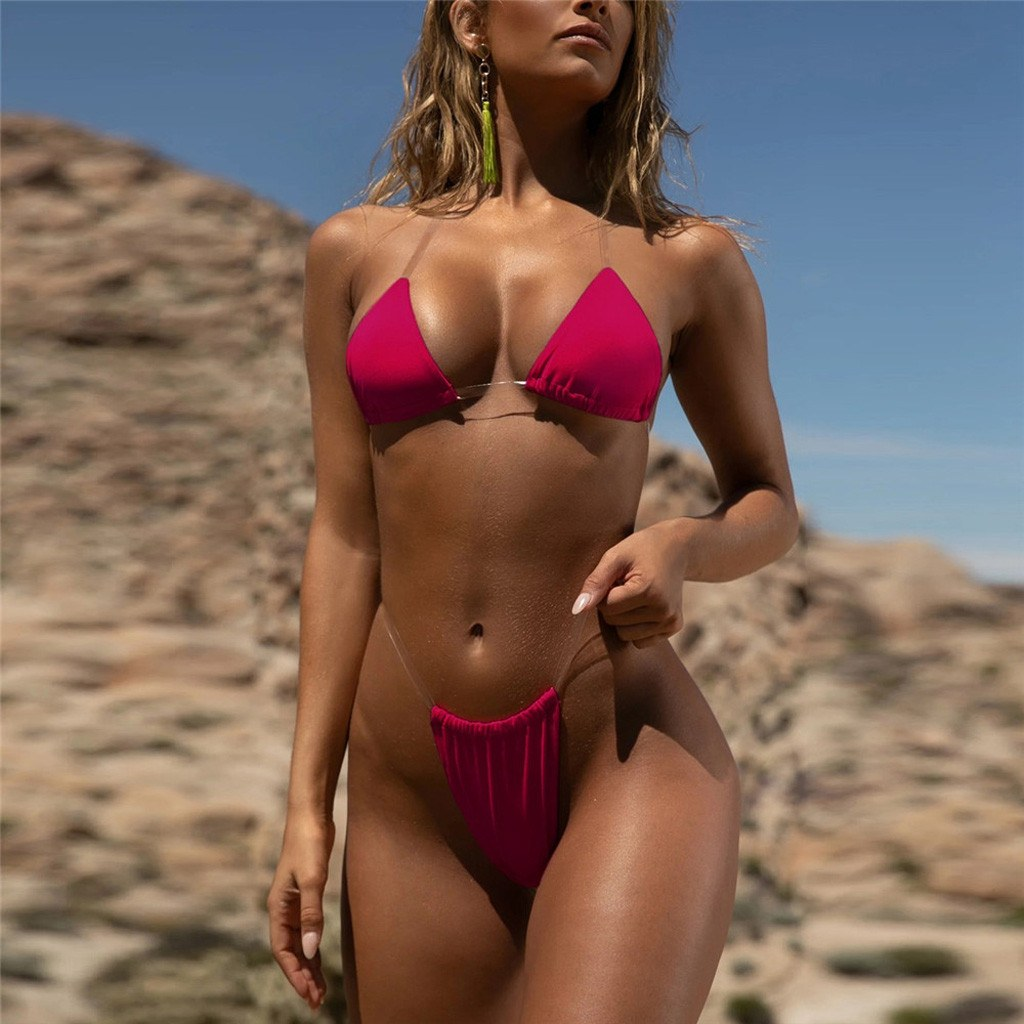 Transparent micro bikini - Sexy Separate Bandeau Set