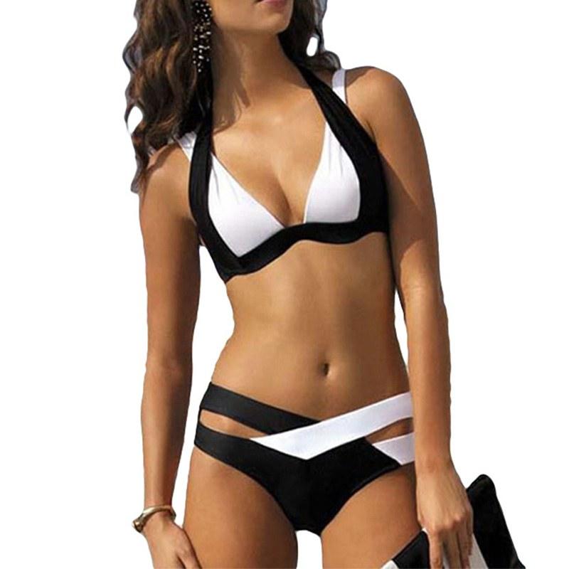 Push Up Swimwear Bandage - Halter Summer Beach Bathing Suit