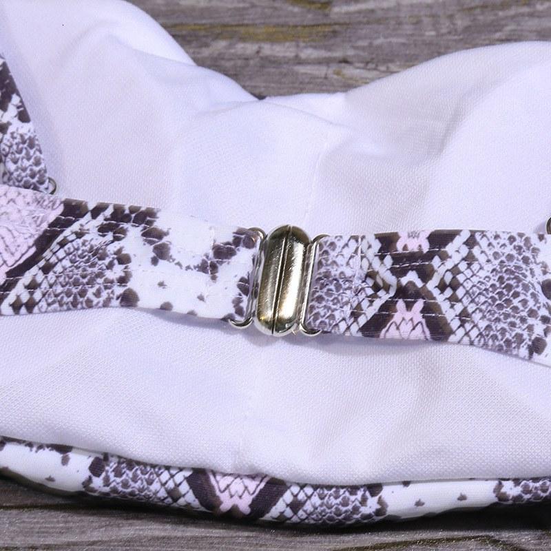 Solid High Waist Bikini Set - Sexy Leopard Snake Print Bathing Suit