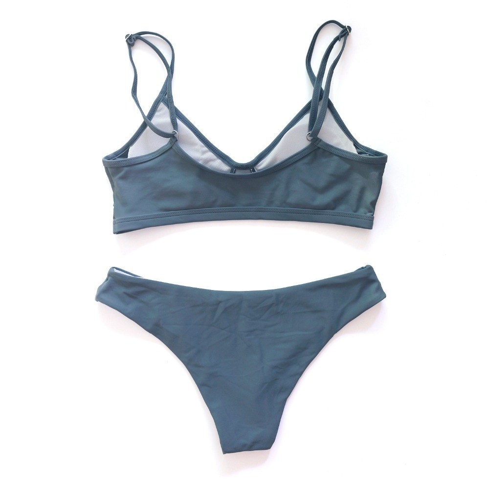 Sexy Solid/Floral/Tie Dye Thong Brazilian Push Up Bikini Set