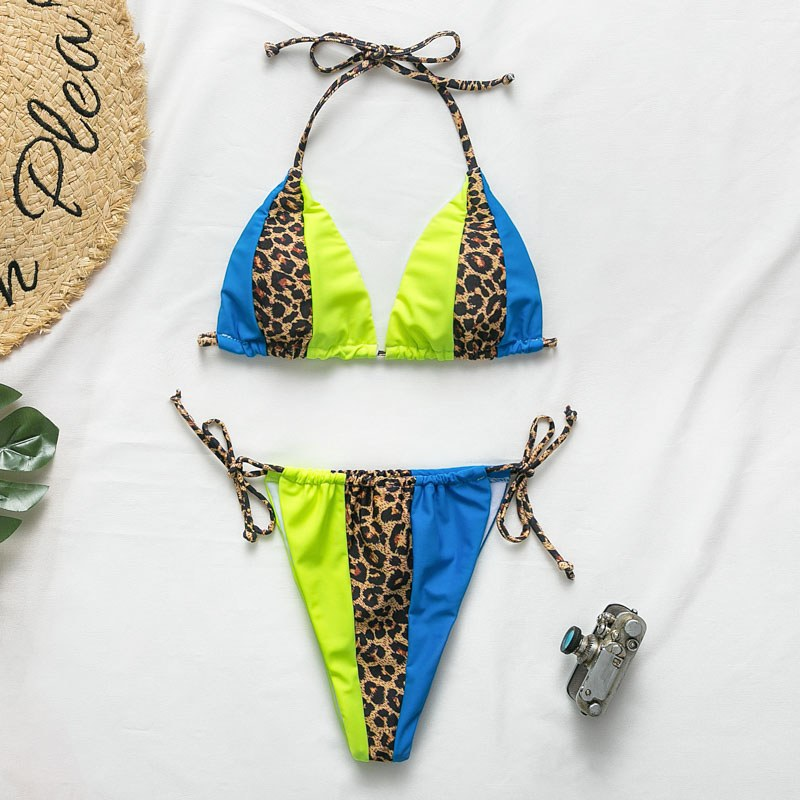 Halter leopard Bikini - Sexy Swimsuit Summer Beach Wear