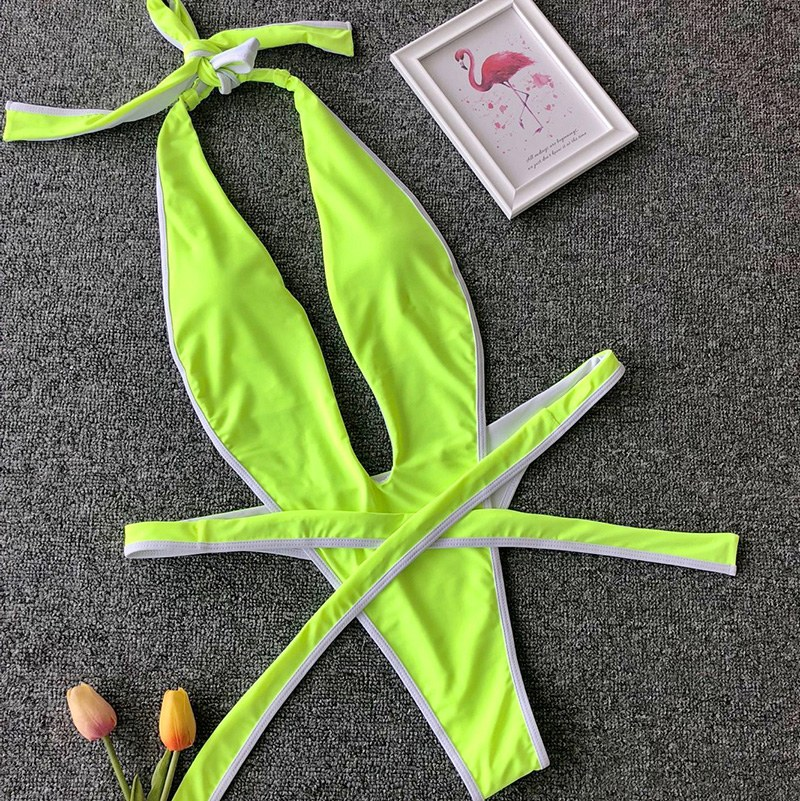 One piece swimsuit - High Leg Cut Women Swimwear