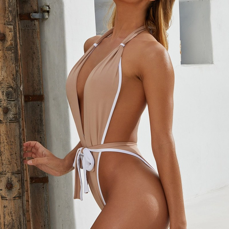 One piece swimsuit - High Leg Cut Women Swimwear