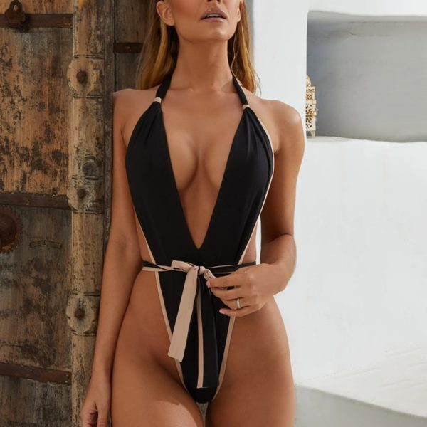Sexy Cut Out Swimwear - One Piece Bathing Monokini
