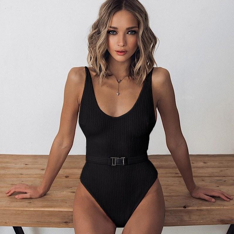 2020 Women Monokini Halter - Cross Bathing Suits
