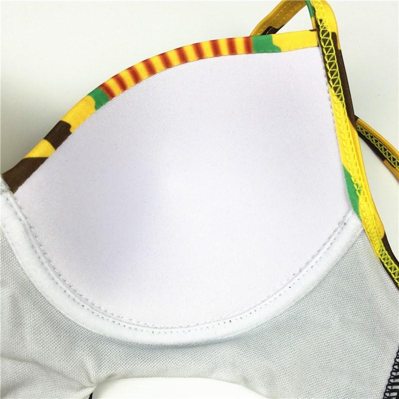 High Cut Swimsuit Brazilian Bikini - African Print Bathing Suit