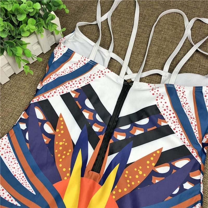 2020 African Style Monokini - One Piece Women Swimsuit