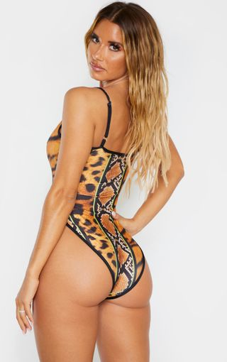 African Plus Size Leopard Swimsuit - One Piece Monokini