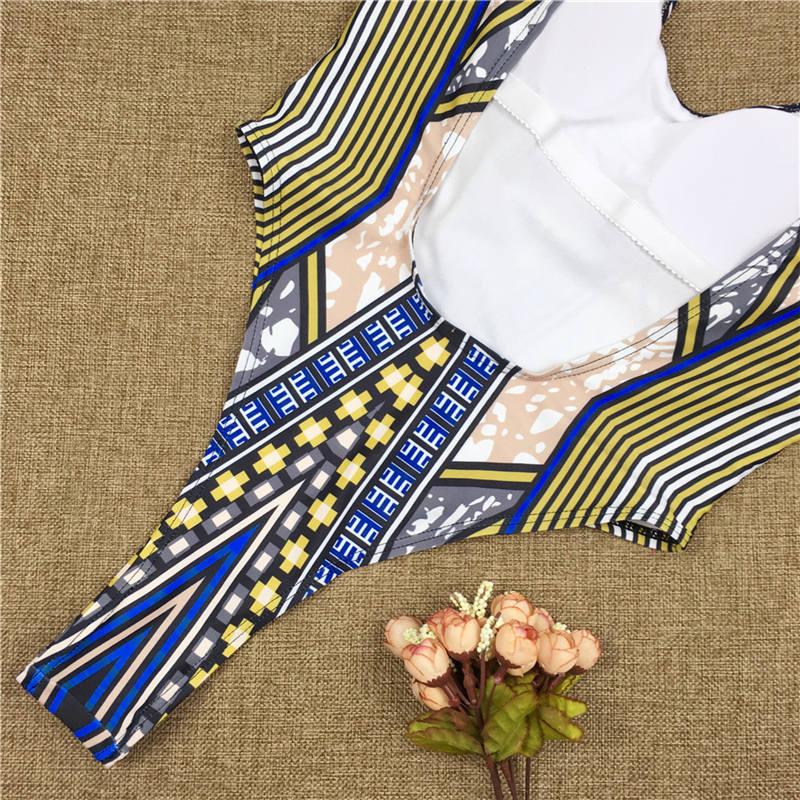 2020 African Style Monokini - Sexy Backless Bodysuit