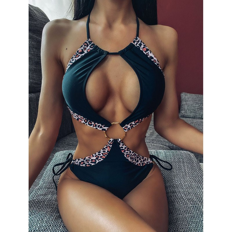 Sexy One Piece Swimsuit - Female Halter Bathing Monokini