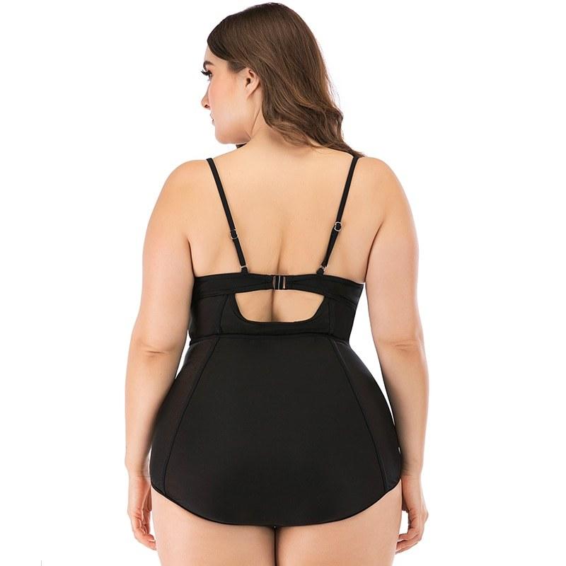 Plus Size Swimwear - Women Push Up Monokini - Summer