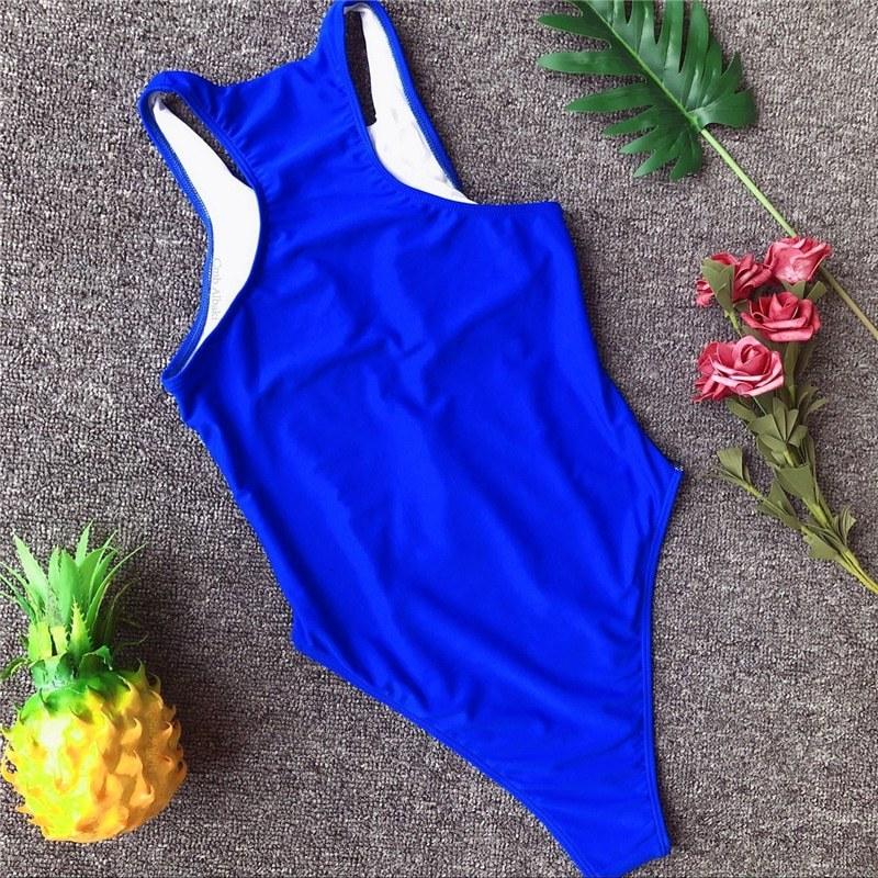 Sexy Swimsuit - Women Push Up Swimwear Zipper - Bathing Suit