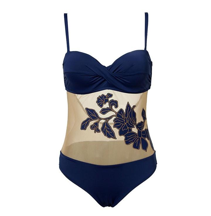 Floral Swimsuit - Summer Push Up Bathing Monokini