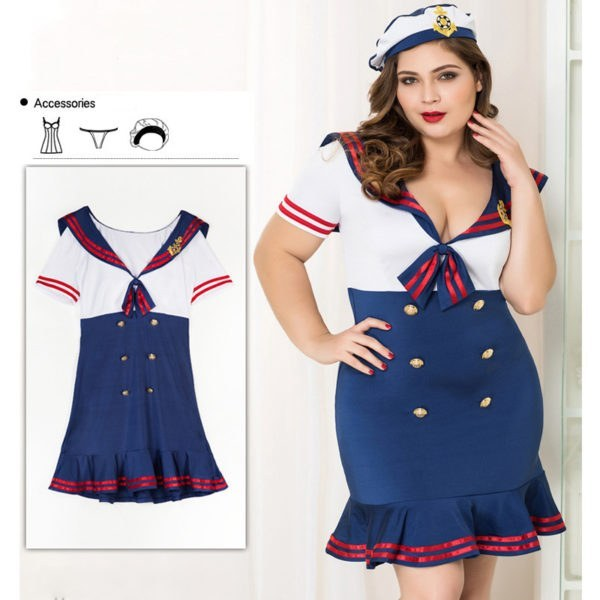 XL Stewardess Uniform - Woman Halloween Role Play Sailor