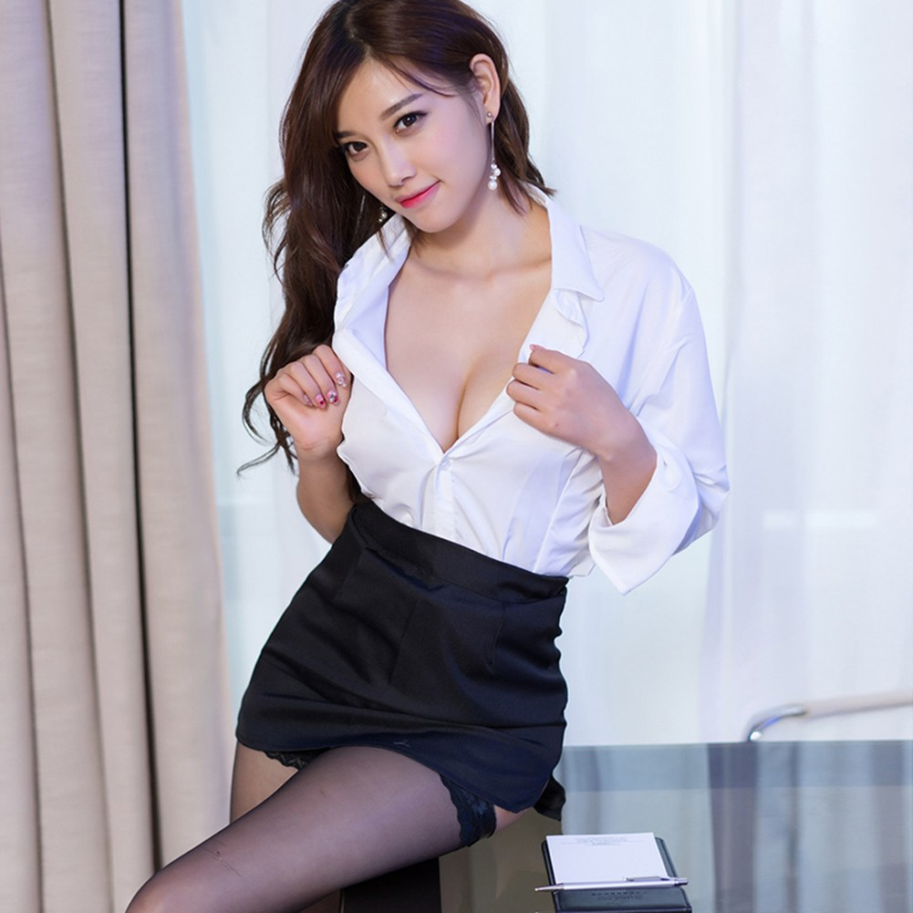 Teacher Costumes - Shirt + Skirt Outfit - Sexy Intimates Outfit Set
