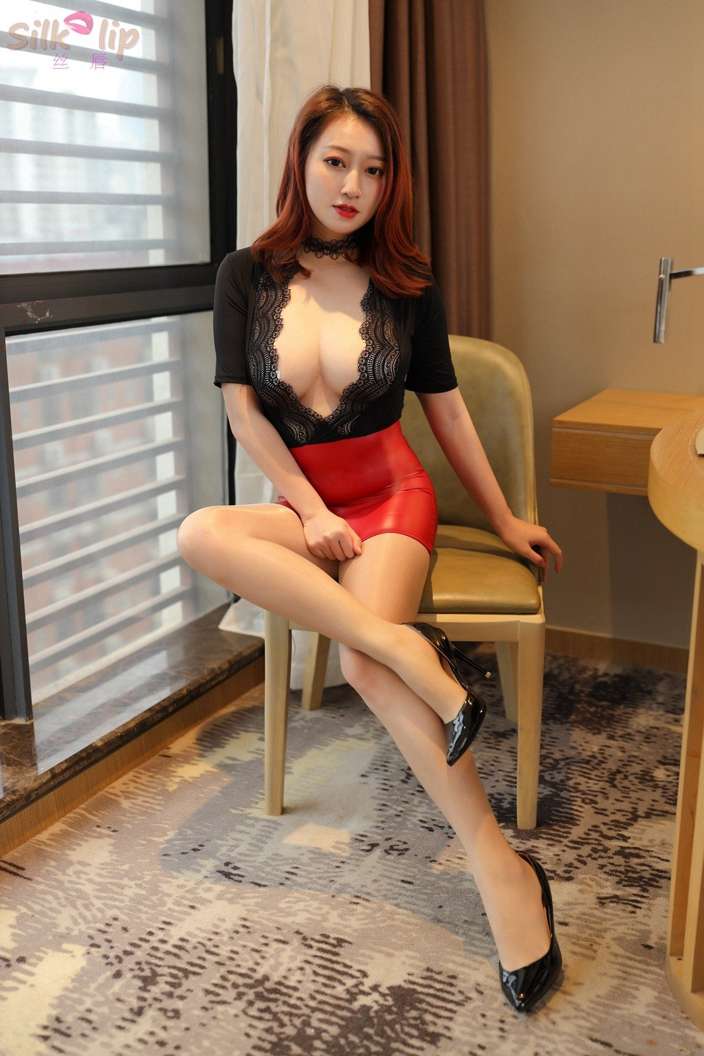 Sexy Secretary Teacher - Ultra-thin Nightclub Deep V Erotic Uniform
