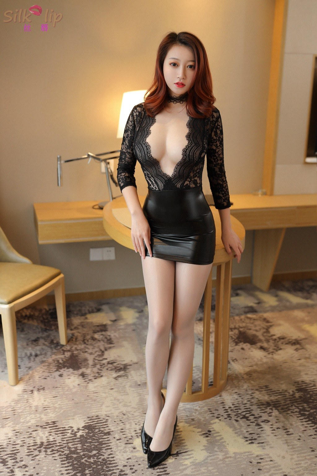 Nightclub Sexy Temptation - Skinny Mini Ice Silk Dress