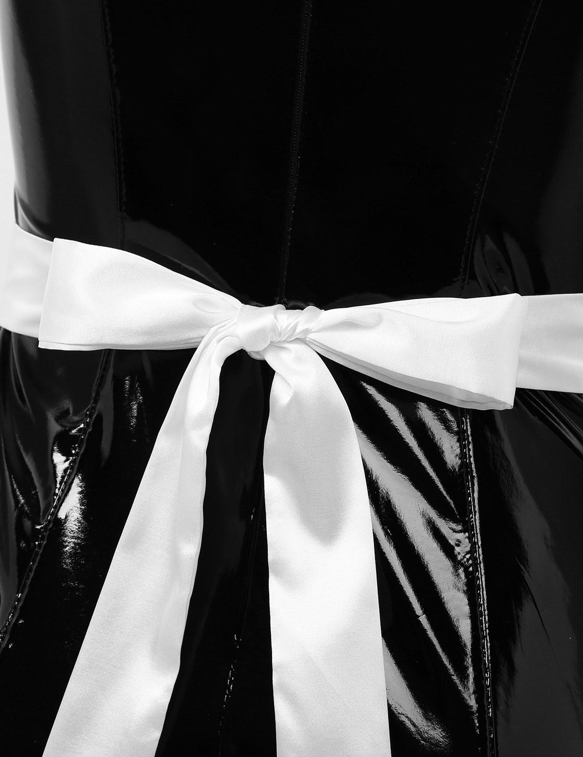 Womens French body latex Maid Dress - Clubwear
