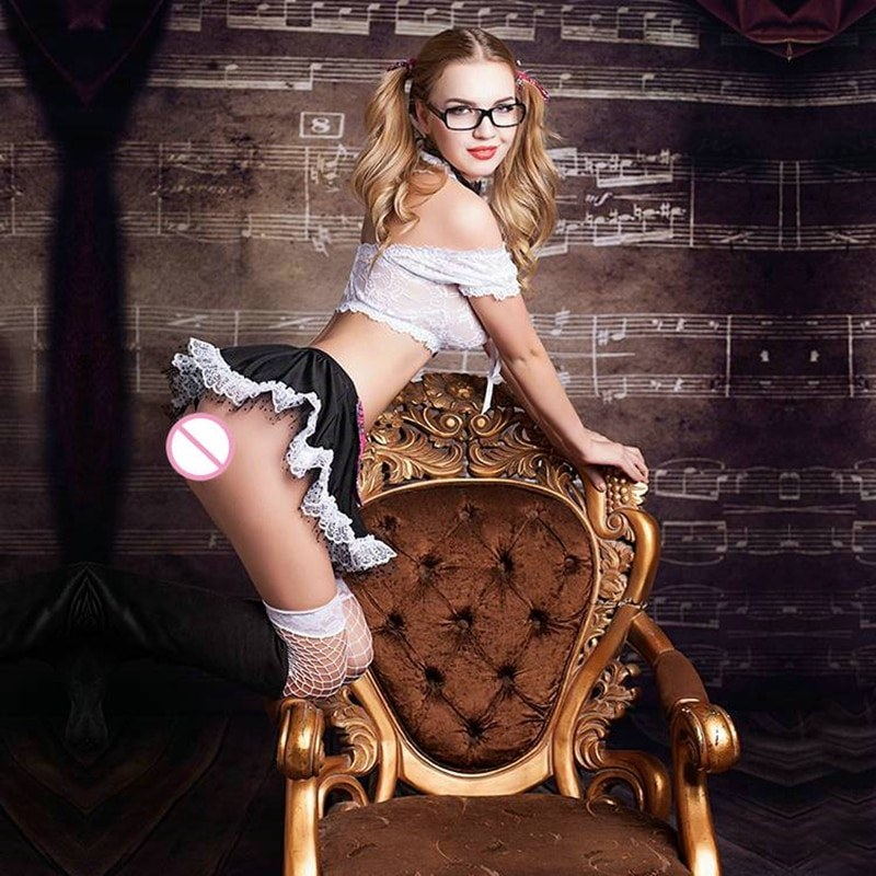 Sexy School Girl Costume for Sex - Role Playing Dress