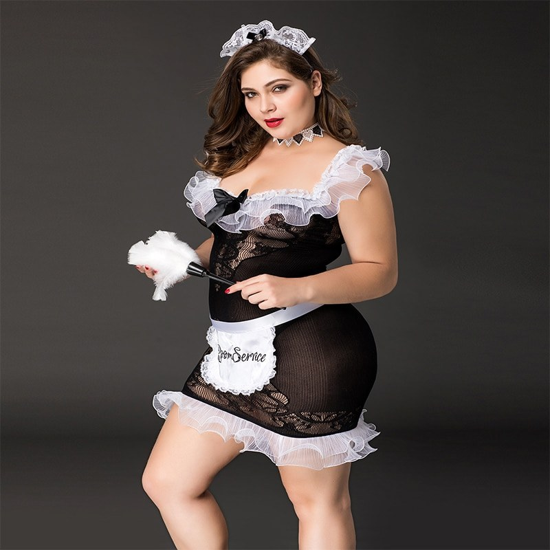 Large Size - Sexy Maid Costume - Role Play Dress