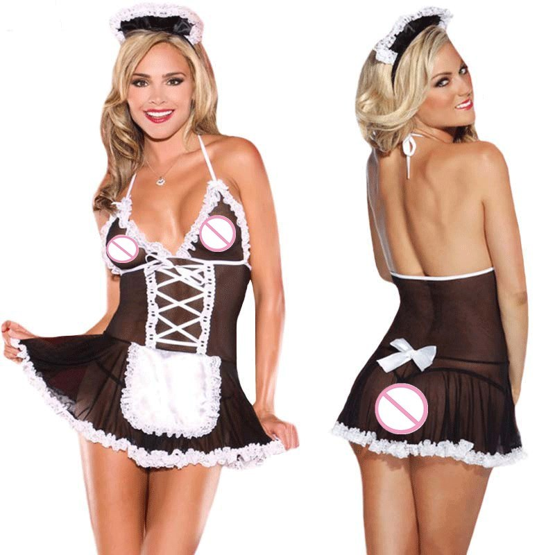 Sexy Maid Uniform - Lovely Female Perspective Role Play Sexy Lingerie