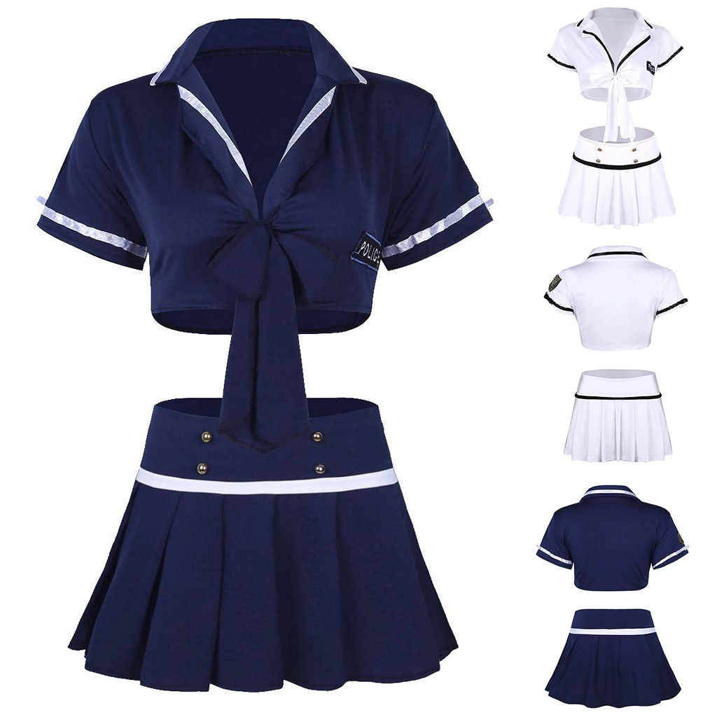 Porno Babydoll - Schoolgirl Uniform - Temptation Mini Dress Bra Sexy