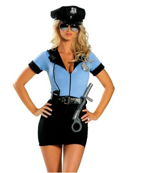 Sexy Policewomen Cop Costume Police Woman Officer Cosplay Uniform