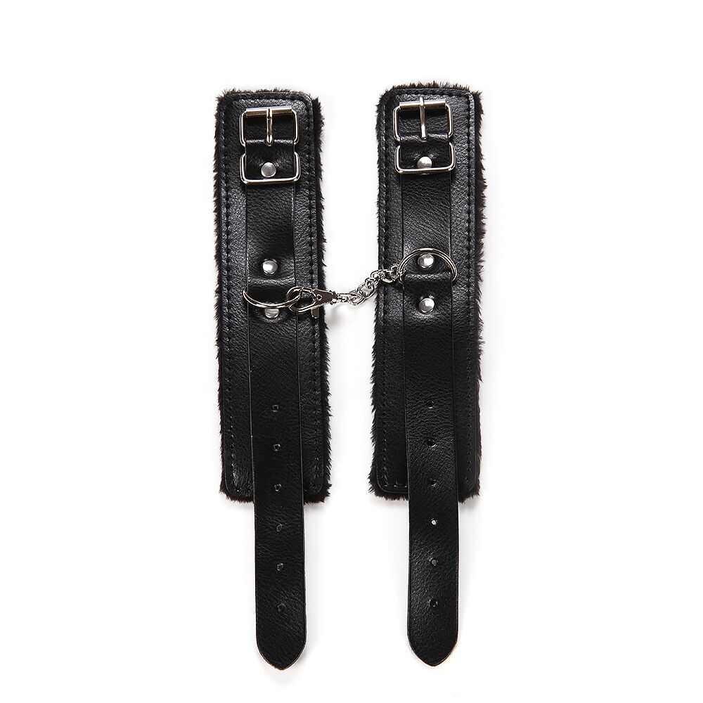 Handcuffs PU Leather Restraints Bondage Cuffs
