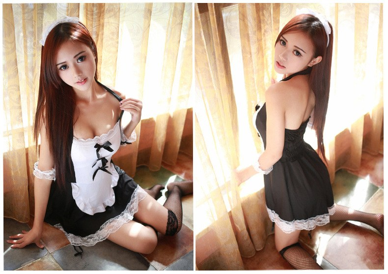 HOT Babydoll - Cosplay Maid Sexy Costume - Lace Miniskirt Outfit