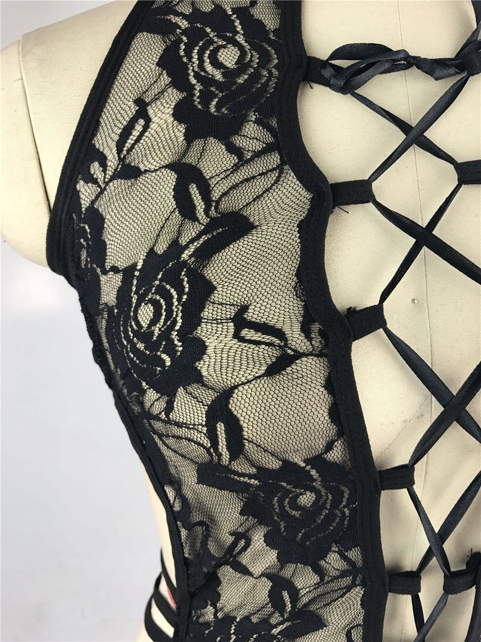 Hot Black Lace Cosplay Cat Uniform - Sexy Costumes