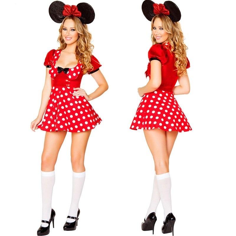 Miney mouse dress - erotic fantasia adult mini anime costumes