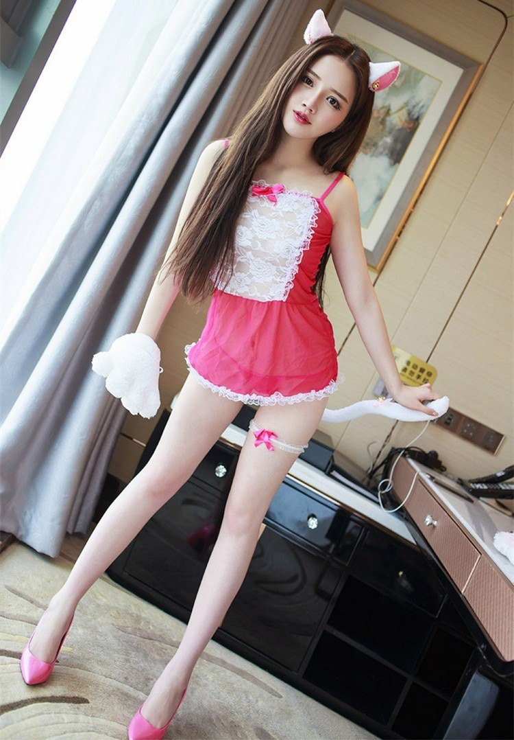 Sexy Mini skirt - Lolita Maid Pink Outfit