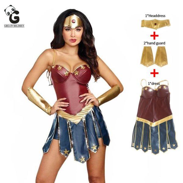 Wonder Woman Costumes - Women Superhero Uniform - Diana