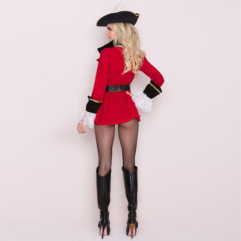 Sexy Pirate Costume - Women Fancy Dress - hat+dress+belt
