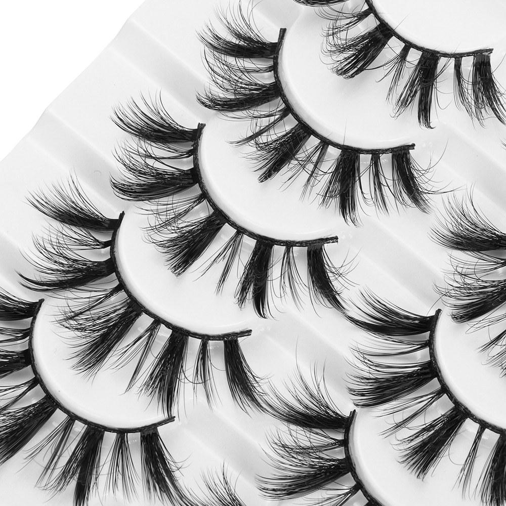 8 Pairs 3D Mink False Eyelashes Natural Fluffy Extension Handmade