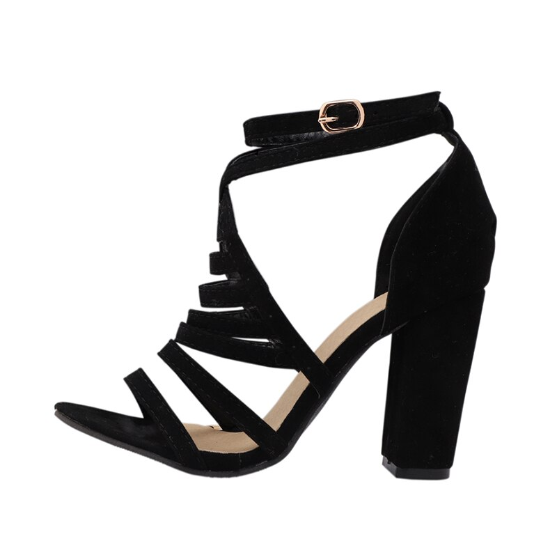 Lady High Heels Design - Women's Cross Strap Bandage Shoes